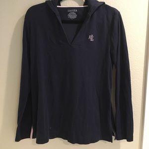 Lauren Ralph Lauren navy hood pullover size L